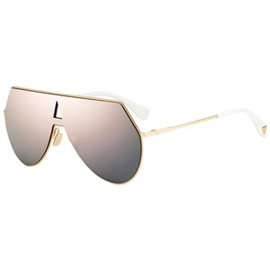 Fendi NEW Fendi 0193S FF0193S Eyeline Aviator Shield Mirrored Sunglasses