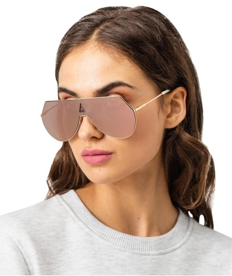 Fendi NEW Fendi 0193S FF0193S Eyeline Aviator Shield Mirrored Sunglasses Image 1