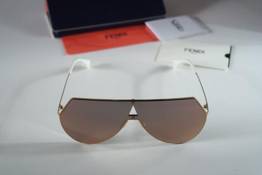 Fendi NEW Fendi 0193S FF0193S Eyeline Aviator Shield Mirrored Sunglasses Image 5