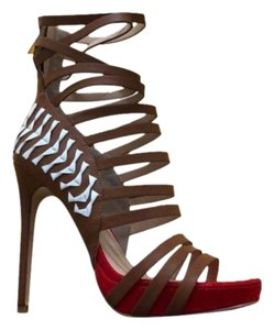 bebe Red, brown and white Sandals