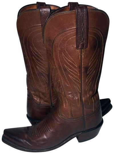 Preload https://img-static.tradesy.com/item/25932260/lucchese-brown-leather-western-cowgirl-women-s-bootsbooties-size-us-65-regular-m-b-0-1-540-540.jpg