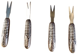 Pottery Barn Corn-cob shaped Corn Picks Set by POTTERY BARN