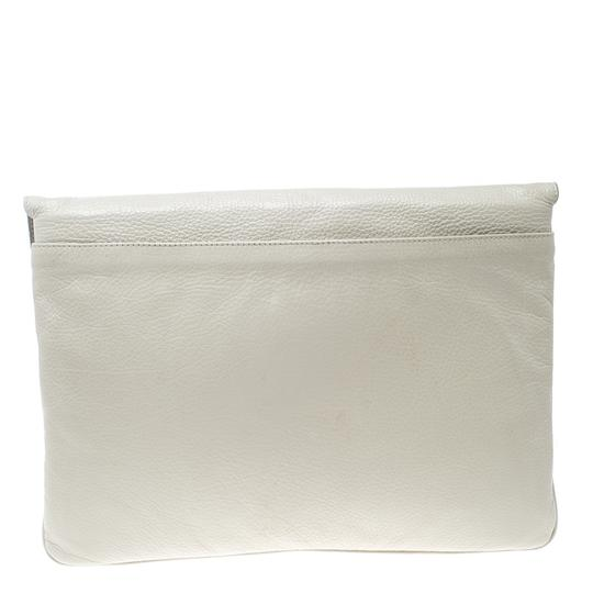 Mulberry Leather Cream Clutch Image 1