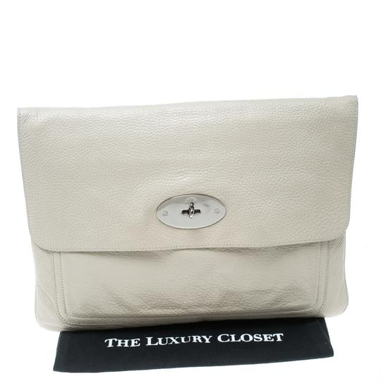 Mulberry Leather Cream Clutch Image 10