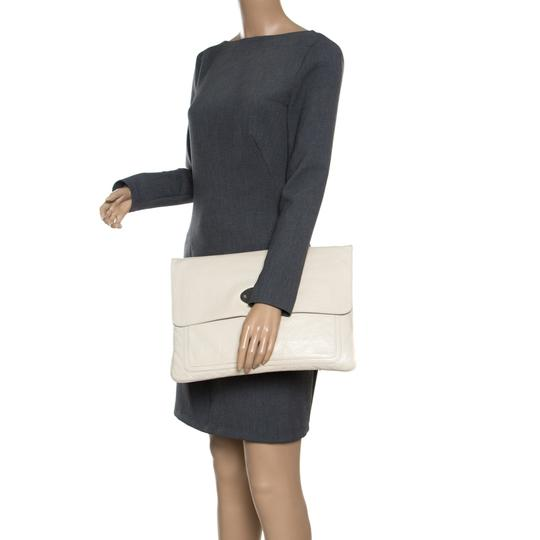 Mulberry Leather Cream Clutch Image 2
