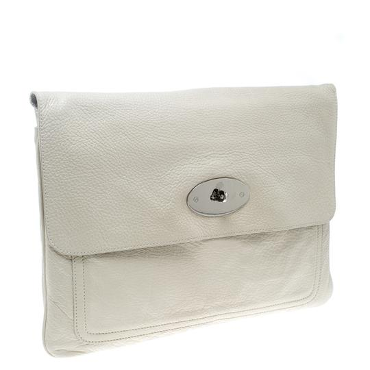 Mulberry Leather Cream Clutch Image 4
