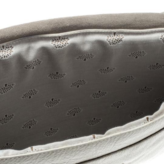 Mulberry Leather Cream Clutch Image 7