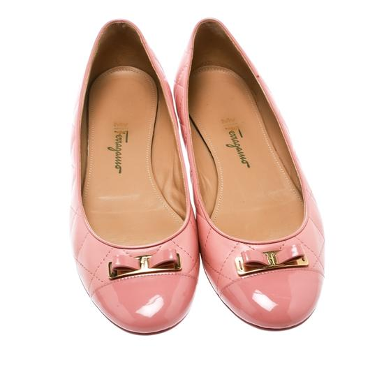 Salvatore Ferragamo Leather Quilted Ballet Pink Flats Image 1