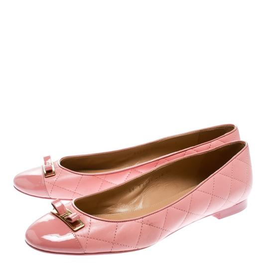 Salvatore Ferragamo Leather Quilted Ballet Pink Flats Image 2