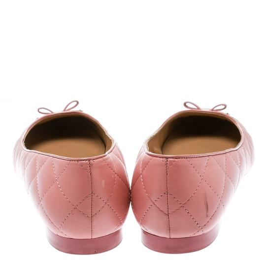 Salvatore Ferragamo Leather Quilted Ballet Pink Flats Image 3