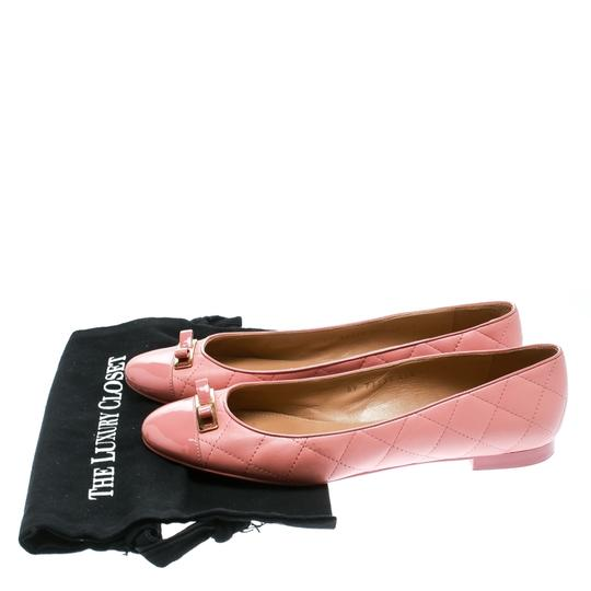 Salvatore Ferragamo Leather Quilted Ballet Pink Flats Image 6
