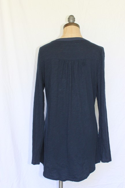 Anthropologie Calantha Henley Jersey Theory People Top Blue Image 1