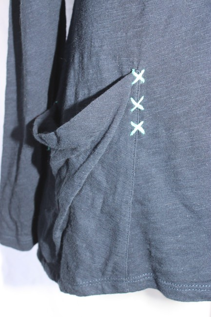 Anthropologie Calantha Henley Jersey Theory People Top Blue Image 3