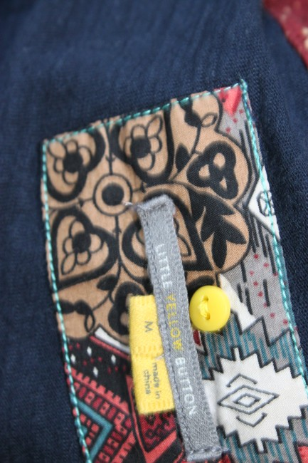 Anthropologie Calantha Henley Jersey Theory People Top Blue Image 4