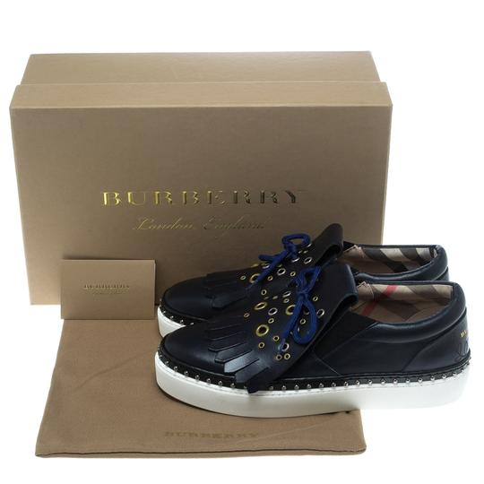 Burberry Leather Blue Athletic Image 7