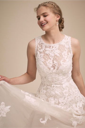 BHLDN Ivory Lace True Romantic Gown Vintage Wedding Dress Size 2 (XS) Image 3