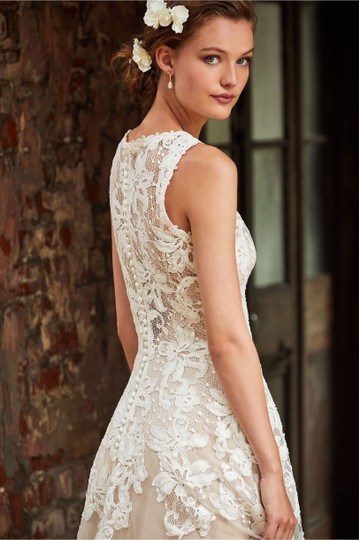 BHLDN Ivory Lace True Romantic Gown Vintage Wedding Dress Size 2 (XS) Image 4