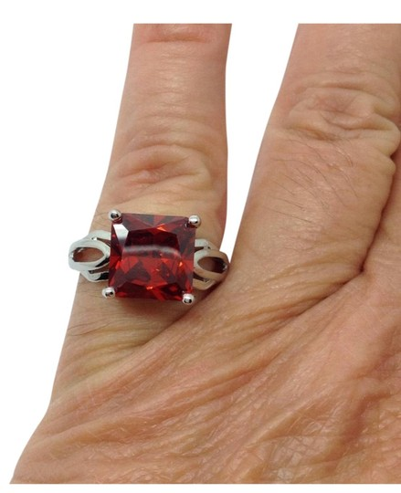 Other Lot Sterling silver OVER silver plated gemstone rings Image 6