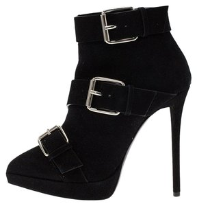 Giuseppe Zanotti Suede Leather Ankle Black Boots