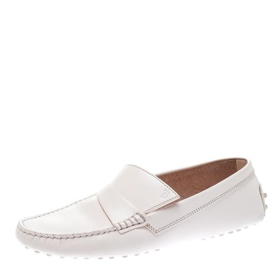 Tod's Leather Rubber Pink Flats Image 1