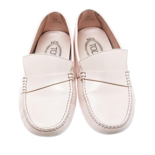 Tod's Leather Rubber Pink Flats Image 2