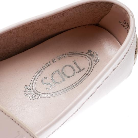 Tod's Leather Rubber Pink Flats Image 6