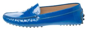 Tod's Patent Leather Blue Flats