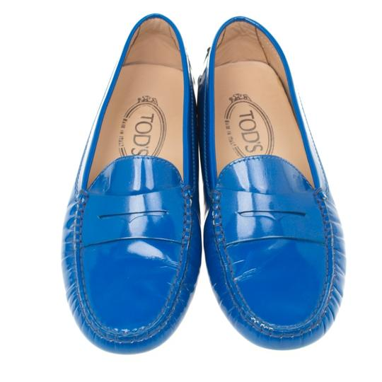 Tod's Patent Leather Blue Flats Image 2