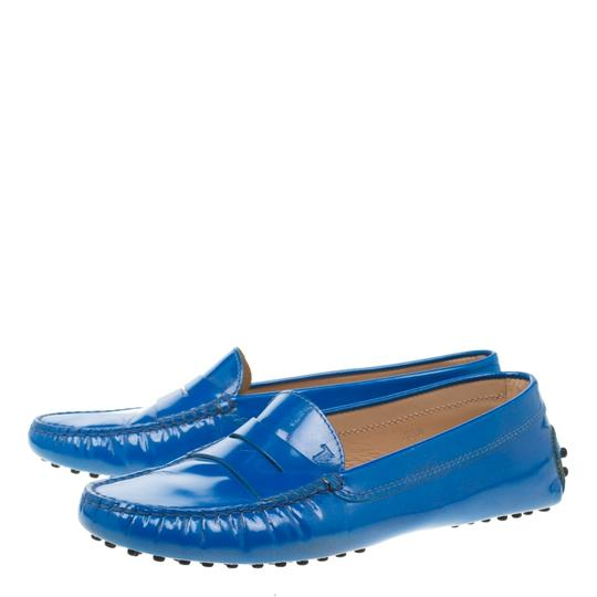 Tod's Patent Leather Blue Flats Image 3