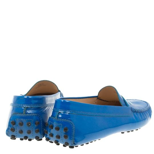 Tod's Patent Leather Blue Flats Image 4