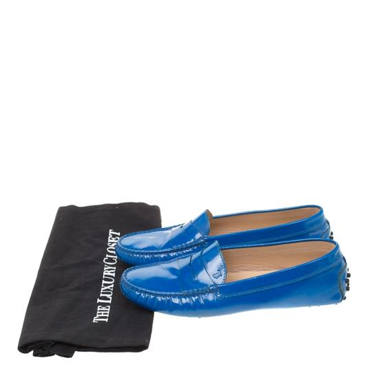 Tod's Patent Leather Blue Flats Image 7
