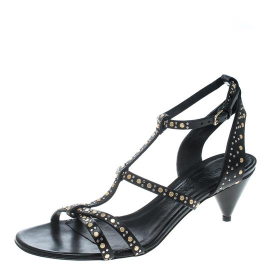 Burberry Leather Studded Cone Black Sandals Image 1