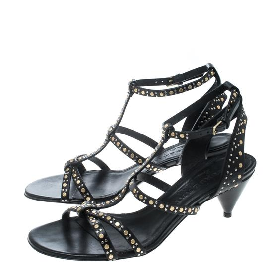 Burberry Leather Studded Cone Black Sandals Image 3