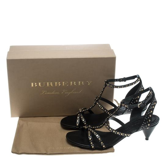 Burberry Leather Studded Cone Black Sandals Image 7