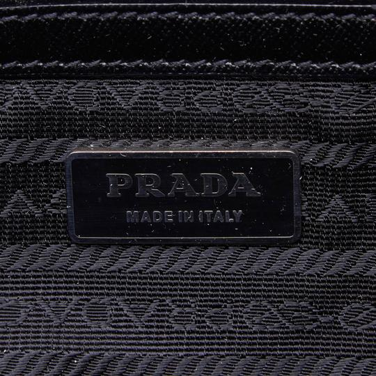 Prada 9hprbs002 Vintage Nylon Leather Black Messenger Bag Image 5