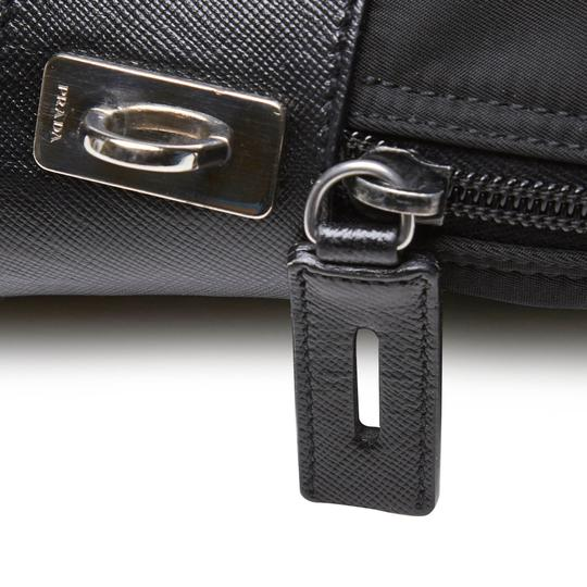 Prada 9hprbs002 Vintage Nylon Leather Black Messenger Bag Image 6