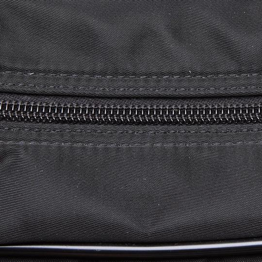 Prada 9hprbs002 Vintage Nylon Leather Black Messenger Bag Image 7
