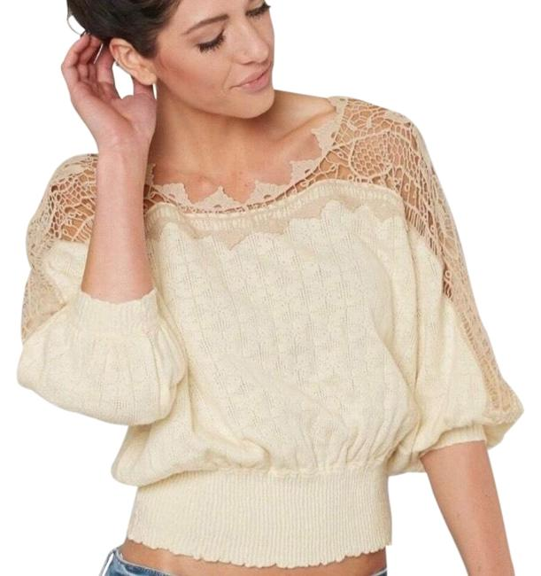 Preload https://img-static.tradesy.com/item/25932393/free-people-love-lace-cream-beige-sweater-0-1-650-650.jpg
