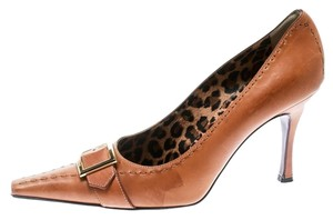 Dolce&Gabbana Leather Detail Pointed Toe Beige Pumps