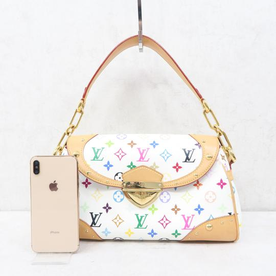 Louis Vuitton Lv Marilyn Multicolor Canvas Tote in White Image 1