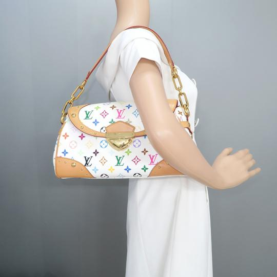 Louis Vuitton Lv Marilyn Multicolor Canvas Tote in White Image 11