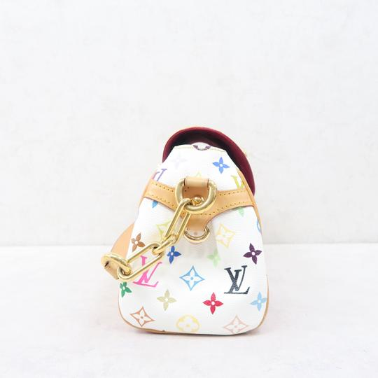 Louis Vuitton Lv Marilyn Multicolor Canvas Tote in White Image 4