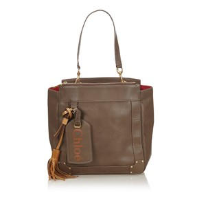 Chloé 9hclto002 Vintage Leather Tote in Brown