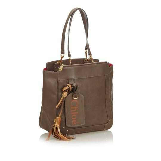 Chloé 9hclto002 Vintage Leather Tote in Brown Image 1
