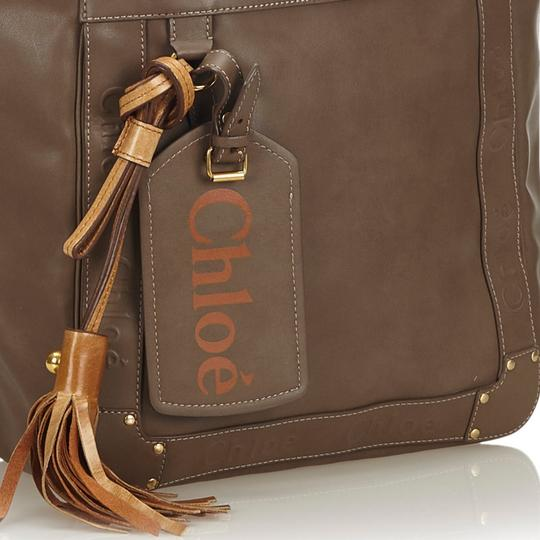 Chloé 9hclto002 Vintage Leather Tote in Brown Image 11