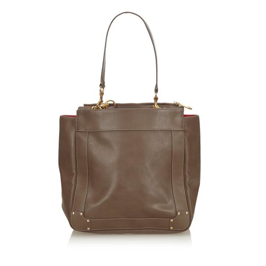 Chloé 9hclto002 Vintage Leather Tote in Brown Image 2