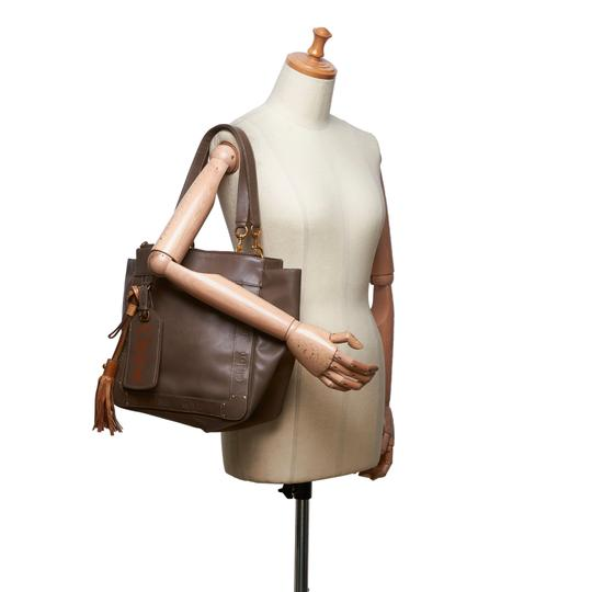 Chloé 9hclto002 Vintage Leather Tote in Brown Image 9