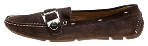 Prada Leather Suede Brown Flats