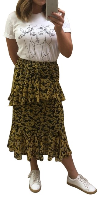 Preload https://img-static.tradesy.com/item/25932495/who-what-wear-x-target-yellow-layered-floral-skirt-size-2-xs-26-0-1-650-650.jpg
