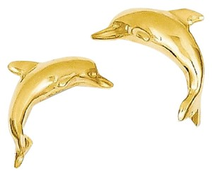 Apples of Gold 14K GOLD DOLPHIN STUD EARRINGS